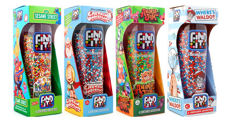 "Find It Games ~ Perfect For Summer Travel - ""Can you find it?"" kids will soon be asking as they go on a family-friendly treasure hunt for Captain Underpants, Sesame Street Jr. characters and even Animal Jam members without leaving their chair. The excitement is building for the 2017 collection of Find It® Games ($19.95), contained adventures in a tall clear tube. Five new titles including Crystal will be added to this clever series that's portable and perfect for every member of the family. {Emily Reviews}"