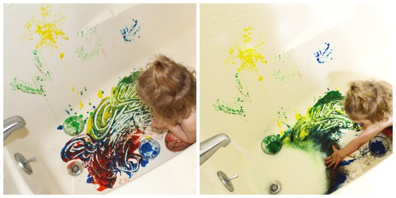 Fun Amp Easy 3 Ingredient Bath Tub Painting Activity For