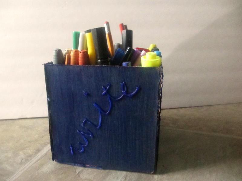 Diy Cardboard Pencil Holder Emily Reviews