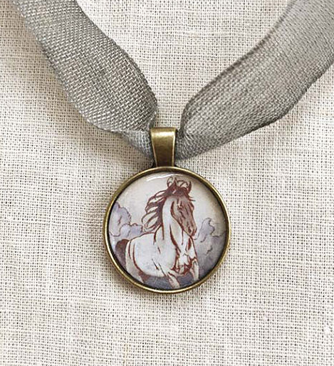 Animal Guidance Horse Guide Pendant Gift Set