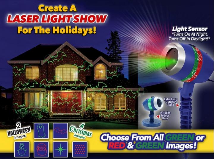 Bulbhead Star Shower Laser Magic