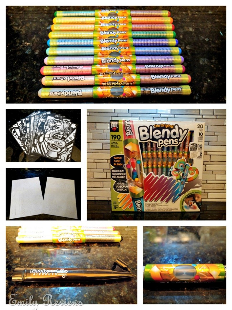 The Blendy Pen Airbrush adds another level of coloring fun. Simply apply a Blendy  Pen to the Airbrush and blow into the chamber. This disperses the ink into  ...