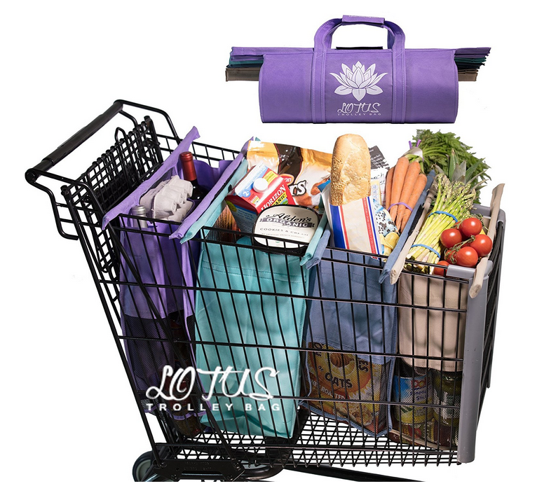 Lotus Trolley Bags - reusable shopping bags