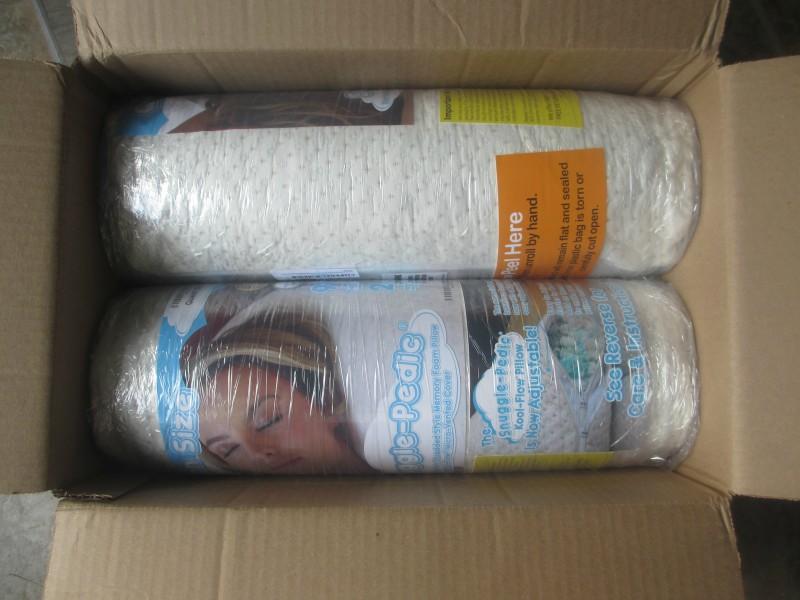 Snuggle-pedic bamboo pillows vacuum sealed