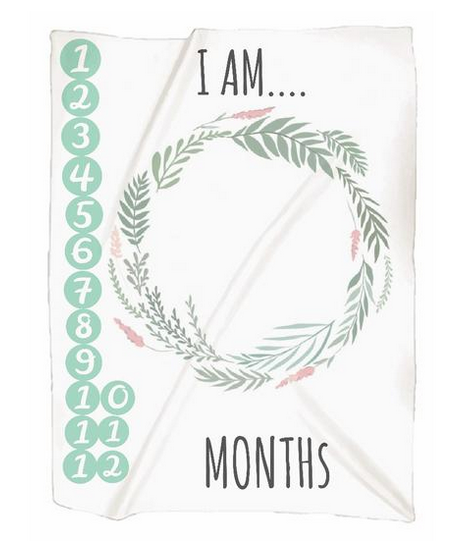 Naptime Kids Photo Blanket - Monthly Milestones