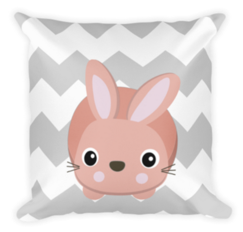 Naptime Kids Bunny Chevron Pillow
