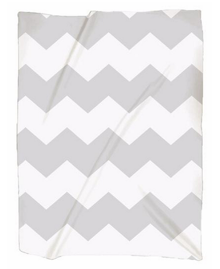 Naptime Kids Gray Chevron Blanket