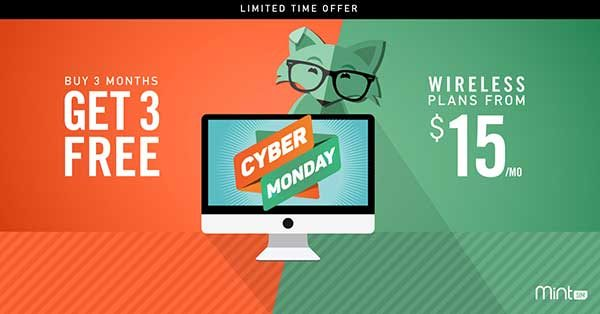 MintSim cyber monday sale