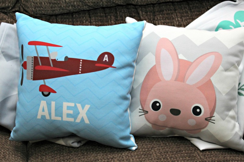 Naptime Kids ~ Personalized Pillows & Patterned Milestone Blankets