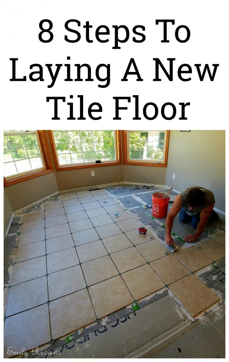 DIY ~ 8 Steps To Laying A New Tile Floor | Emily Reviews