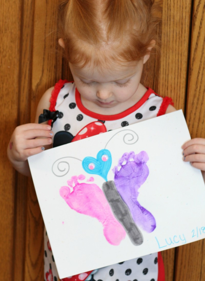 Encouraging The Arrival Of Spring With Foot Print Butterflies