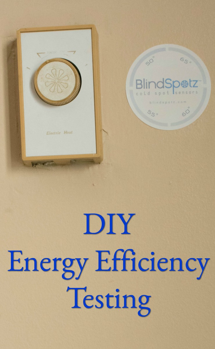 DIY Energy Efficiency testing BlindSPotz cold sensors