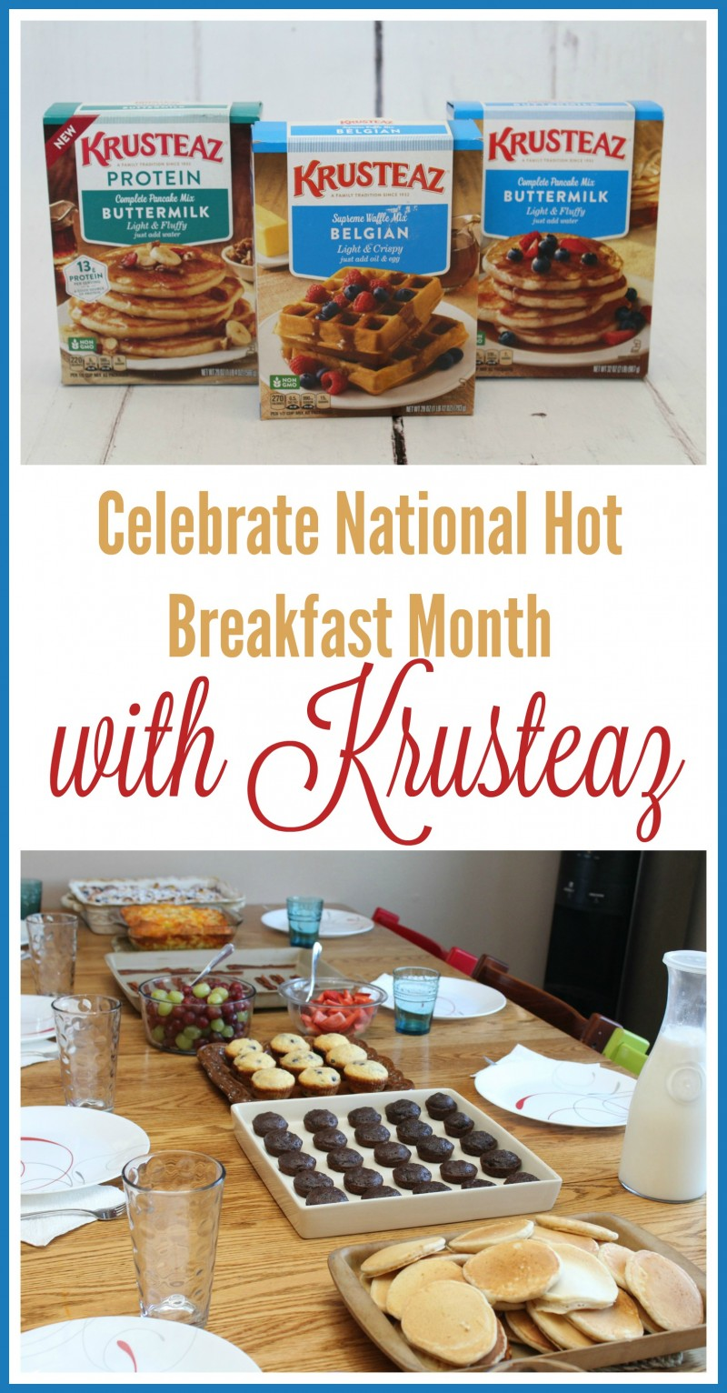 Celebrate February National Hot Breakfast Month {With Krusteaz}