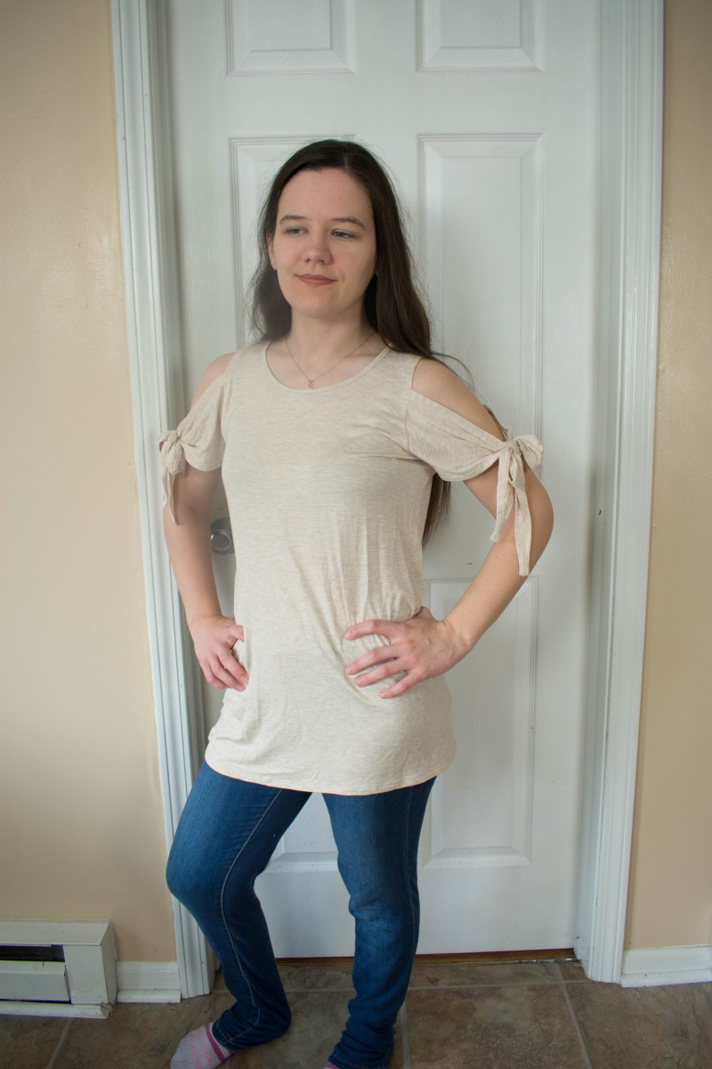 Nadine West open shoulder top