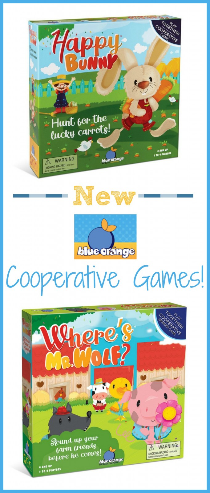 Blue Orange Games ~ Cooperative Games For Preschoolers