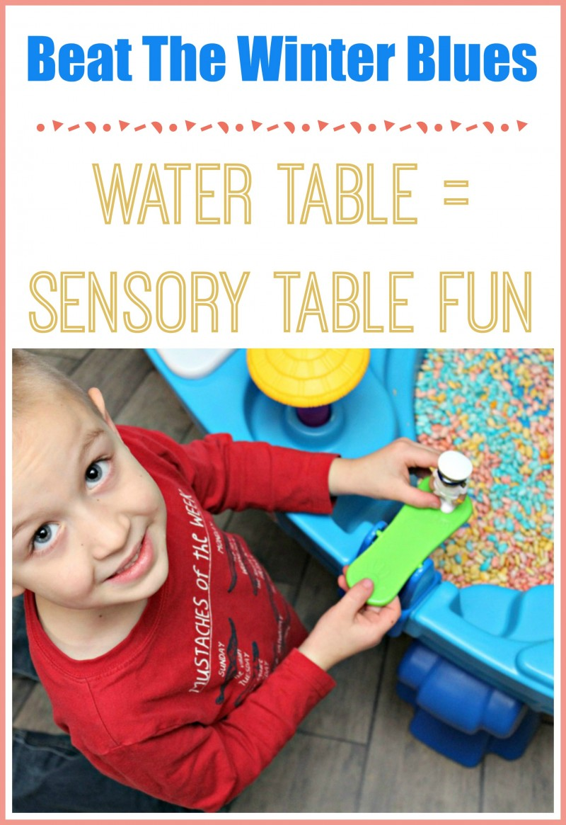 Beat The Winter Blues: Water Table = Sensory Bin )Turn Your Water Table Into A Sensory Bin)