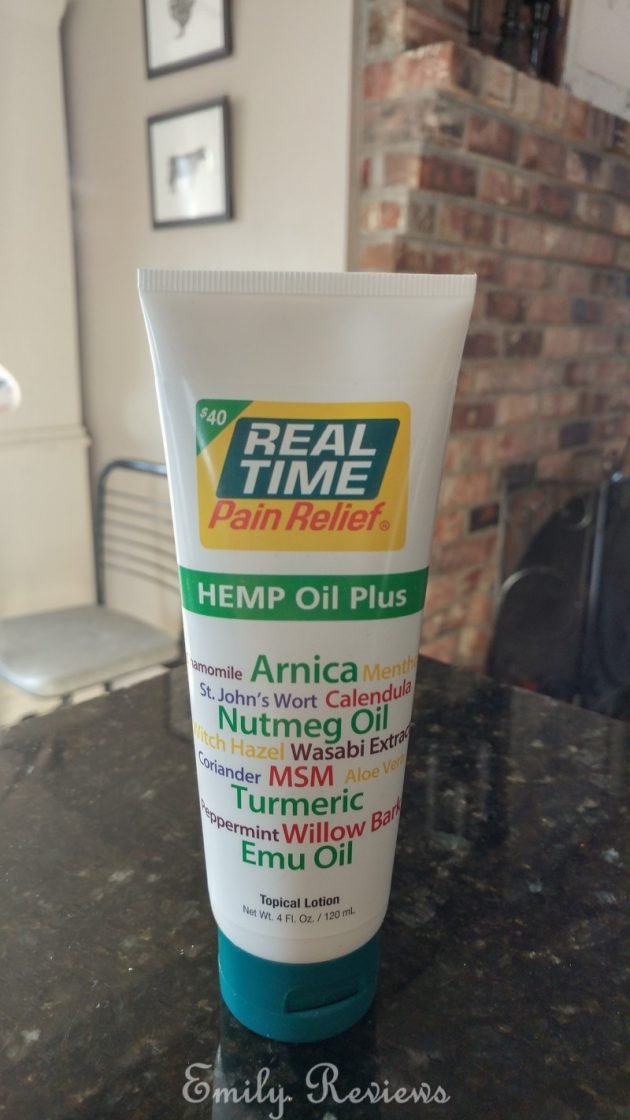 Real Time Pain Relief Sports Cream & Hemp Oil Plus ~ Review