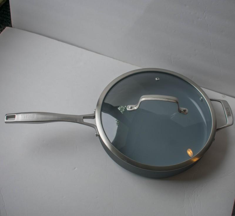 Bialeeti covered deep saute pan
