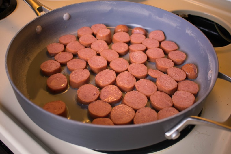 Bialetti deep saute pan sausage and veggie one pan dinner