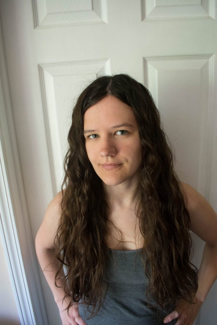 long wavy hair after curly girl method