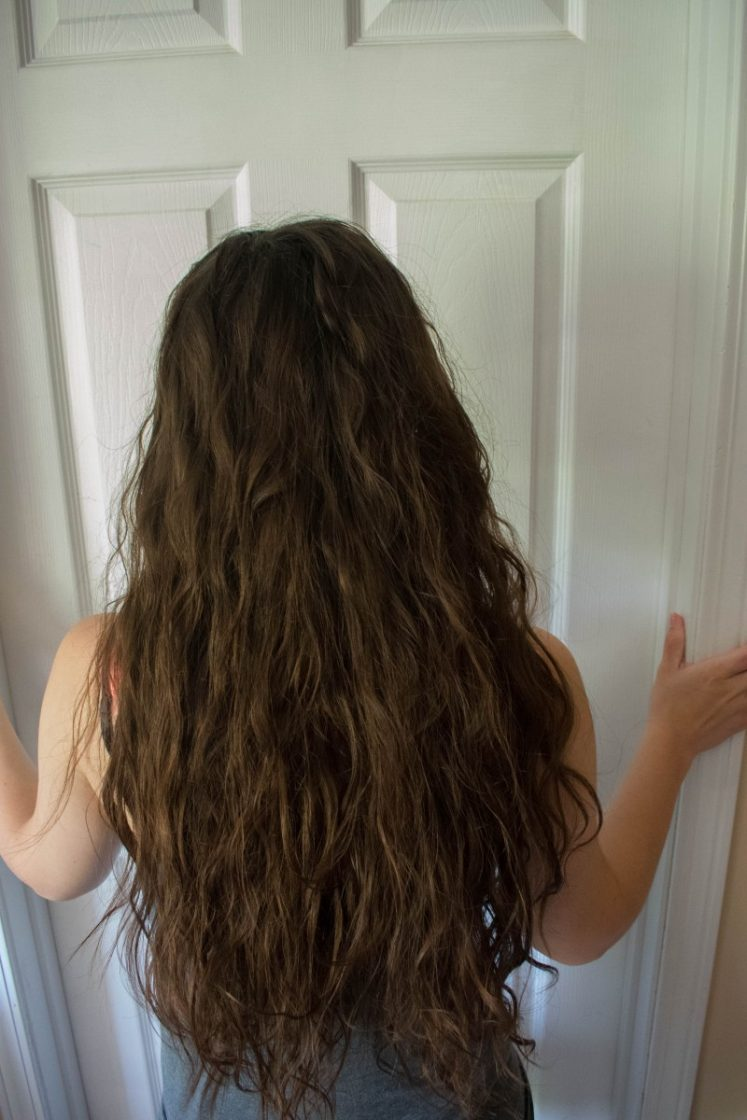 After curly girl method wavy long hair