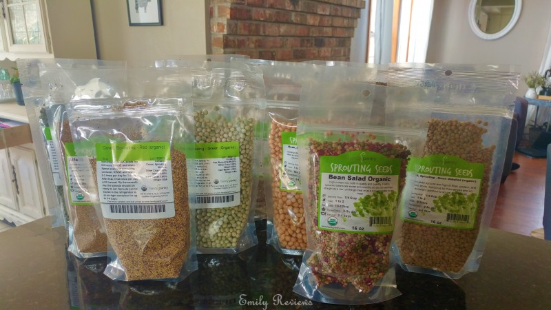For My Review True Leaf Market Sent Me A Generous Ortment Of Sprouting Seeds Including Alfalfa Radish Mullet Clover Lentil Mung Garbanzo