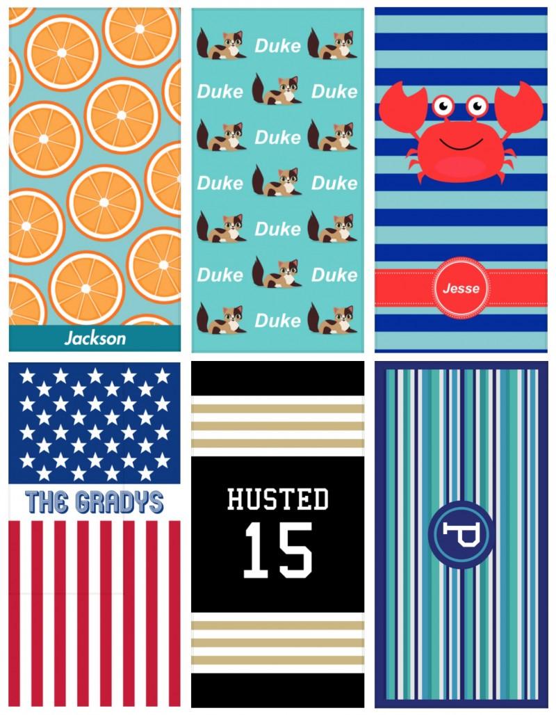Just So Posh ~ Customized Beach Towels, Notebooks, & Gifts! - Custom Beach Towels