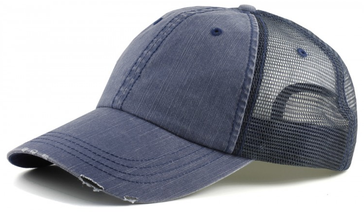 Lamood Big Head - Vintage Low Profile Big Head Trucker Hats- Navy