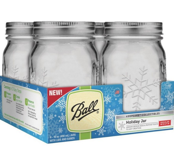Ball Canning Snowflake Jars