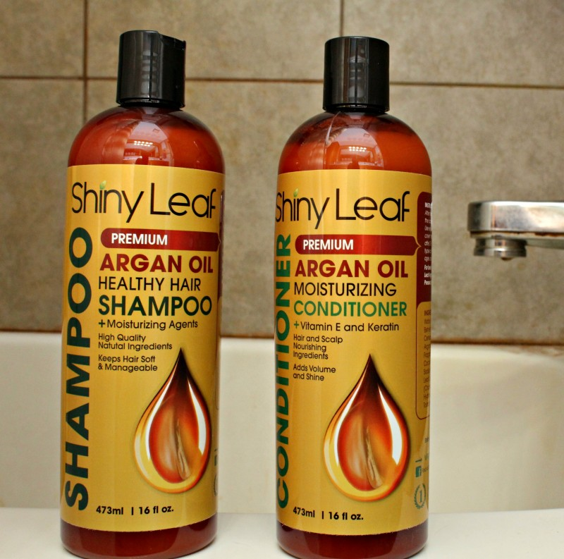 Shiny Leaf Argan Oil Healthy Hair Shampoo + Conditioner