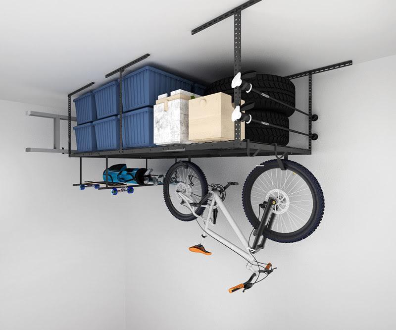Fleximount garage overhead storage rack