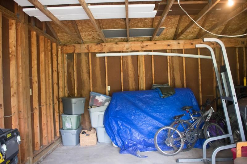 Garage before storage rack