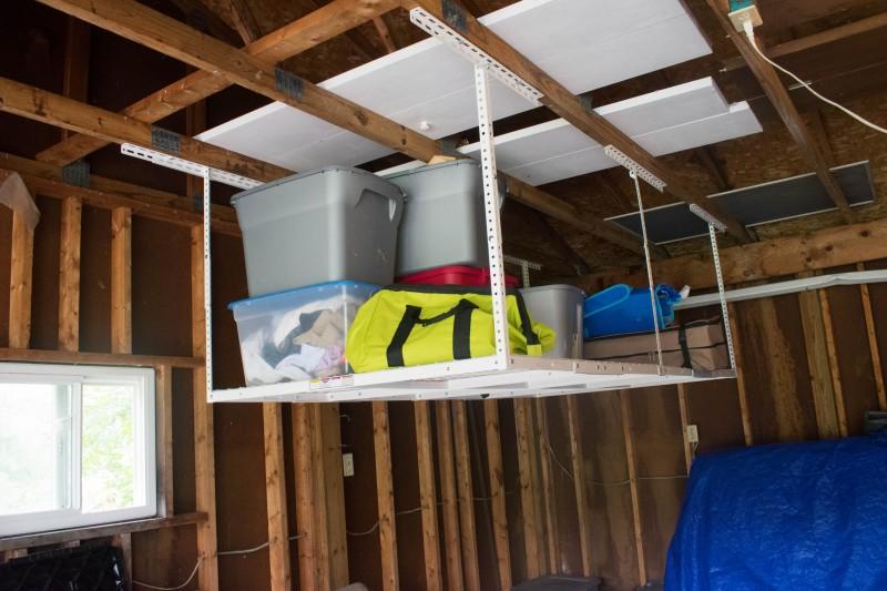 Garage storage rack fleximount