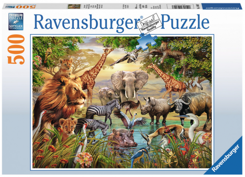 Ravensburger Majestic Watering Hole 500 piece puzzle