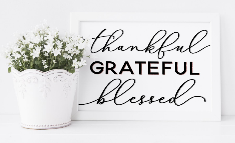 "Saylor Design Co. ""THANKFUL GRATEFUL BLESSED"" PRINT"