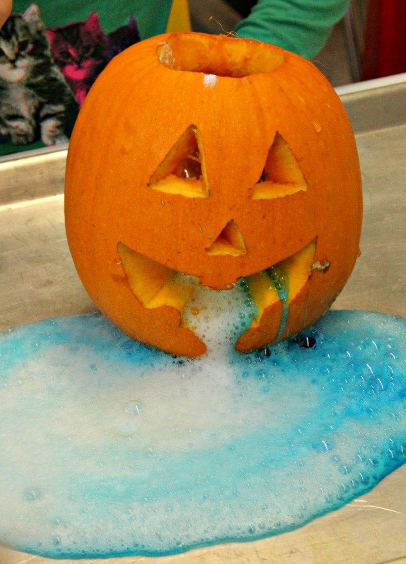 Another Use For Pumpkins - Science Experiment Pumpkin Volcano!