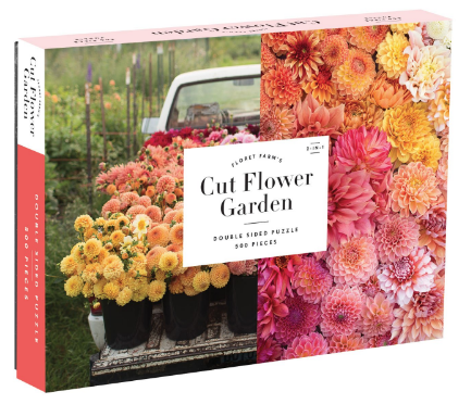 Galison Floret Farm's Cut Flower Garden 2-Sided 500 Piece Puzzle