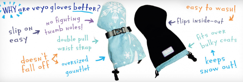 Mittyz - The Best Toddler Snow Gloves From Veyo Kids