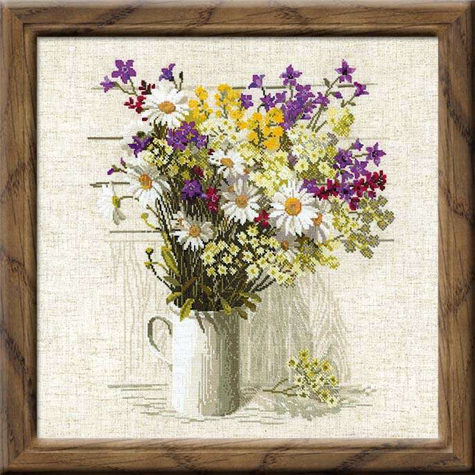Riolis sunflowers cross stitch kit