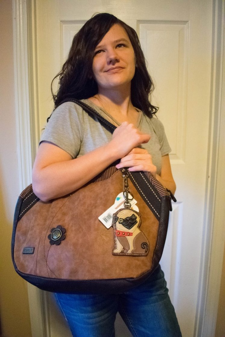 Chala handbags bowling bag pug
