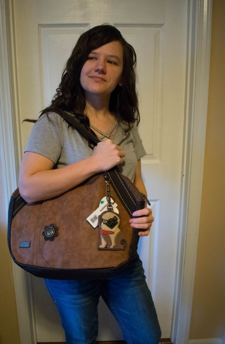 Chala bowling handbag pug brown