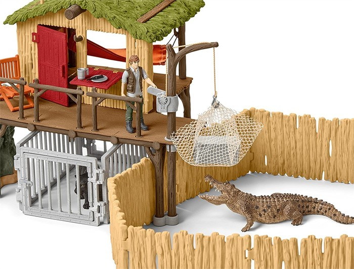 croco jungle research playset