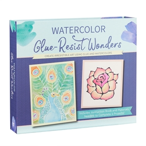 Watercolor glue-resist wonders