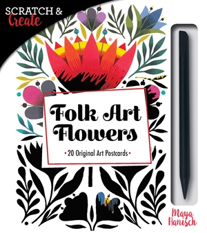 Folk Art Flowers scratch art