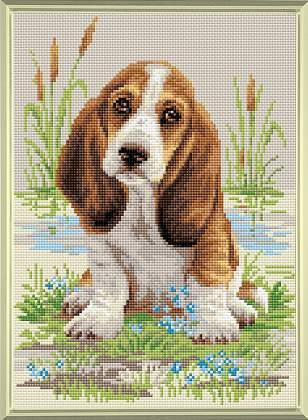 RIOLIS basset hound puppy diamond mosaic