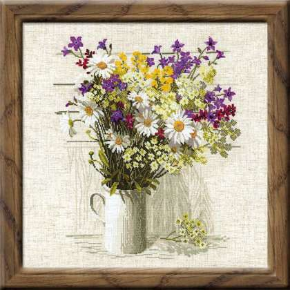 RIOLIS wildflowers large cross stitch kit
