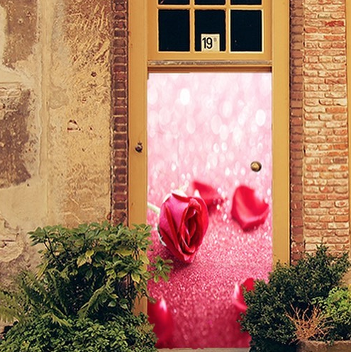 DoorFoto Fabric Reusable Door Covers {Perfect For Valentine's Day!}