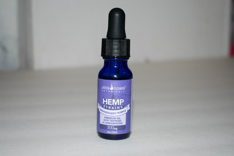Green Flower Botanicals grandaddy purple hemp oil