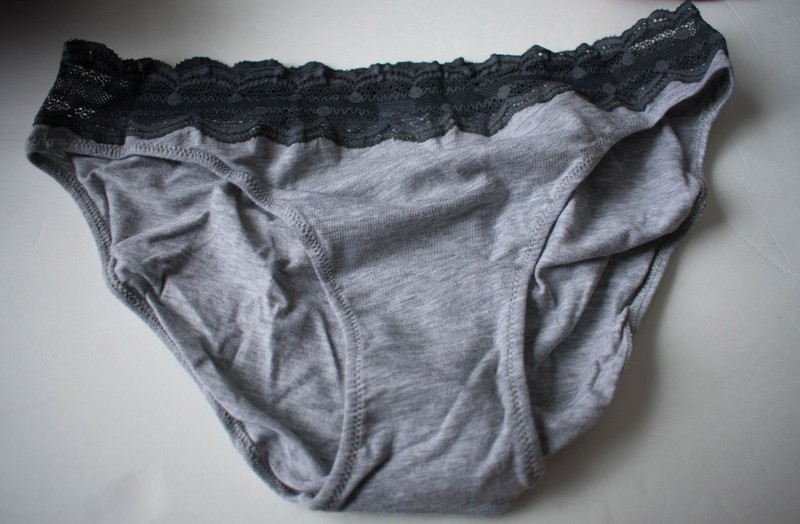 Panty drop gray bikini cotton panties