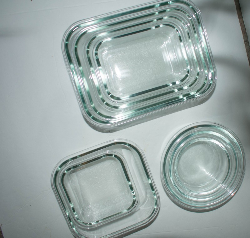 1790 glass storage food containers nested